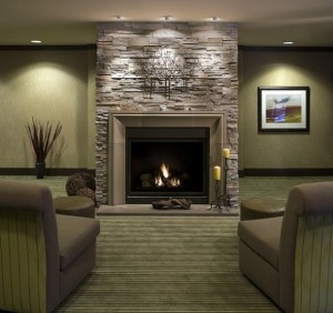 Modern-fireplace-design-for-brick-living-room