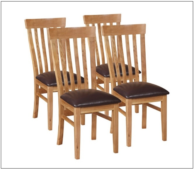 brown dining chairs with dark brown PU Required Goods